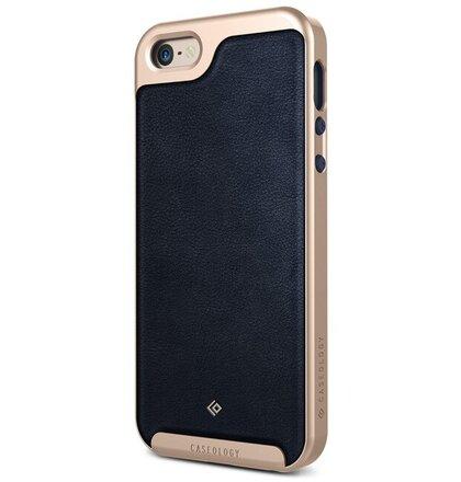 Puzdro CASEOLOGY iPhone 5/5s/SE Case Envoy Leather modré