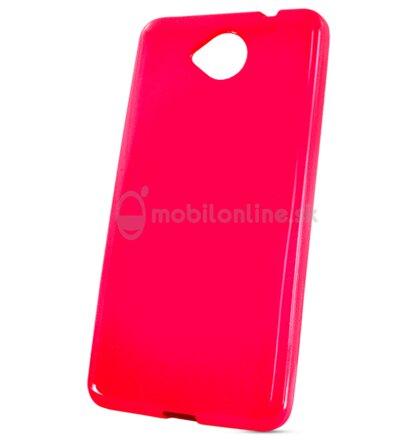 Puzdro Microsoft Lumia 650 Jelly Candy silikónové ružové
