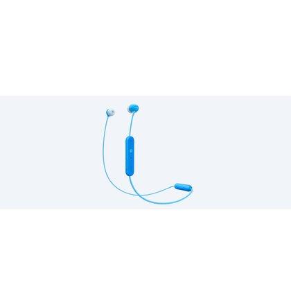 SONY sluchátka WI-C300 bezdr.,modrá