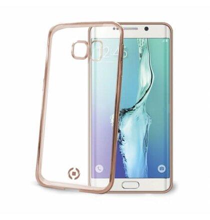 TPU púzdro CELLY Laser-lemovanie s kovovým efektom pre Samsung Galaxy S6 Edge, zlaté (Pošk.Blister)