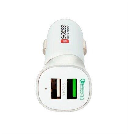 SKROSS Dual USB Car Quick Charger Qualcomm 3.0 nabíjací autoadaptér, 5400mA max.