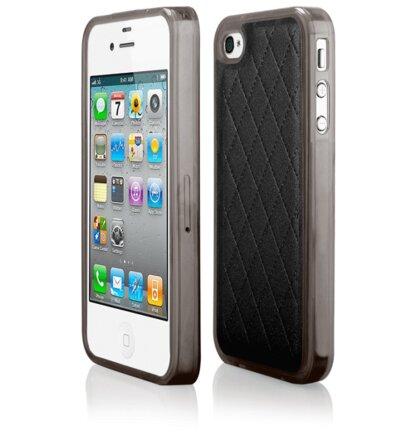Puzdro iPhone 4/4s Skin silikónové -  čierne