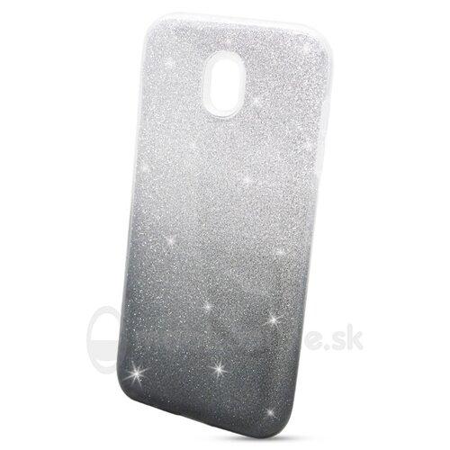 Puzdro 3in1 Shimmer TPU Samsung Galaxy J5 J530 2017 - strieborno-čierne