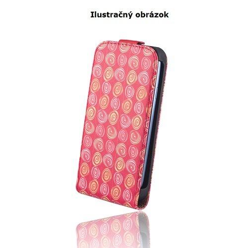 Nokia Lumia 730/735 knižkové flipové koženkové puzdro, circles