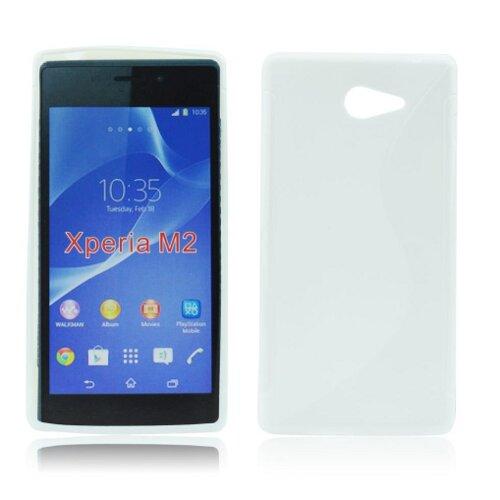 Gumené puzdro Sony Xperia M2, biele