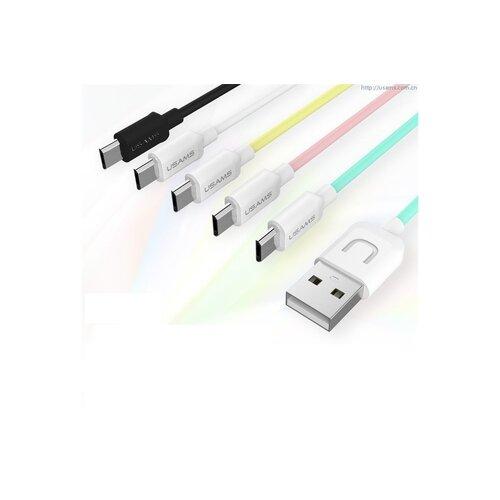Dátový kábel USAMS SJ098 U Turn MicroUSB 1m Čierny (EU Blister)