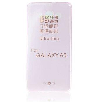 Samsung Galaxy A5 A500 GUMENÉ ULTRA tenké (0,3mm) puzdro, transparentné