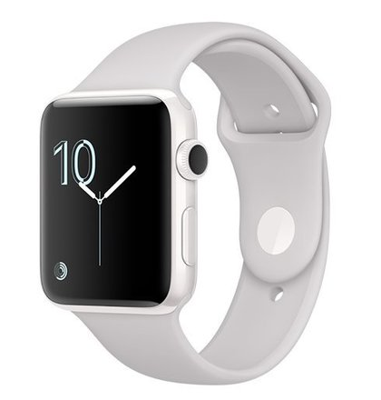 Apple Watch Edition, 42mm White Ceramic Case with Cloud Sport Band