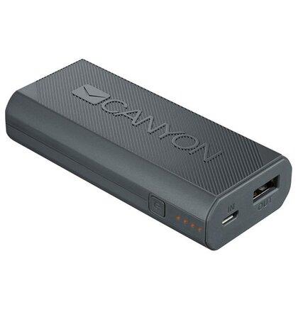 Canyon CNE-CPBF44DG Powerbank 4.400 mAh, výstup USB 5V/max 2,4A, pre smartfóny, tmavo šedá