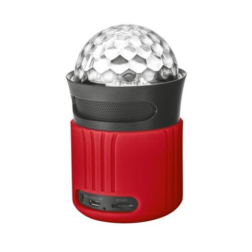 TRUST Dixxo Go Bluetooth reproduktor s párty svetlami Červený