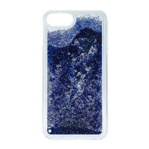 Puzdro Guess pre iPhone 6/6S/7 GUHCP7GLUFLBL silikónové s trblietkami, fialové