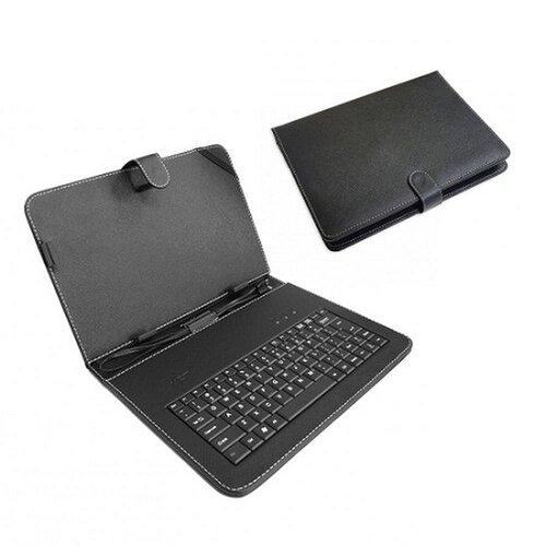 Koženkové púzdro na tablety 9 palcov s klávesnicou - čierne
