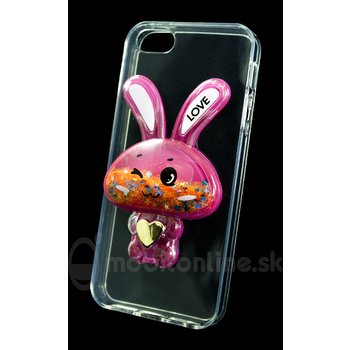 Puzdro Liquid TPU iPhone 5/5s/SE zajko - ružové