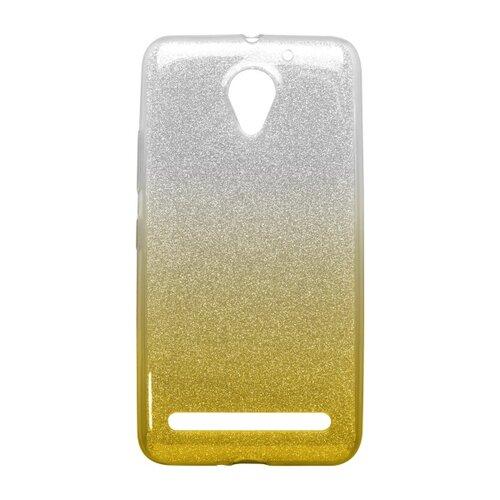 Puzdro Shimmer TPU Lenovo Vibe C2/C2 Power - žlté