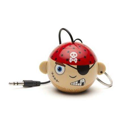 Reproduktor KITSOUND Mini Buddy Pirate, 3,5 mm jack, ružový