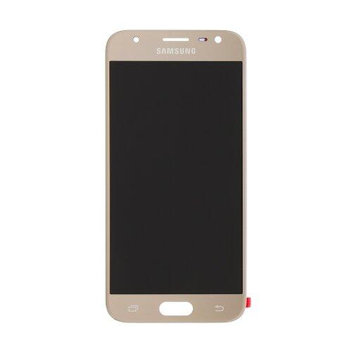 Samsung J330 Galaxy J3 2017 - LCD Displej + Dotyková Plocha - Zlatý (Service Pack)