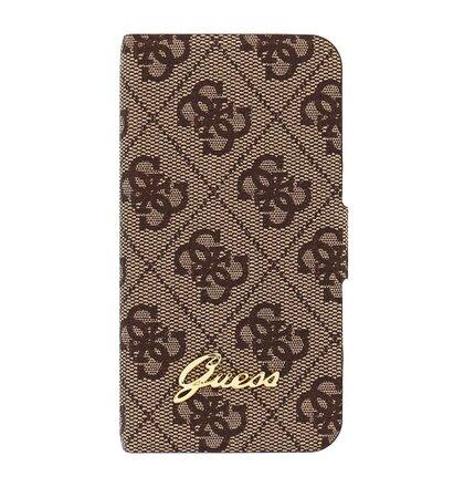Puzdro GUFLHP44GB Guess Iphone 4/4s Book - hnedé