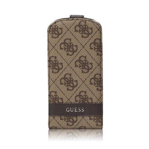 Puzdro Guess pre Samsung Galaxy S4 GUFLS44GB knižkové, hnedé