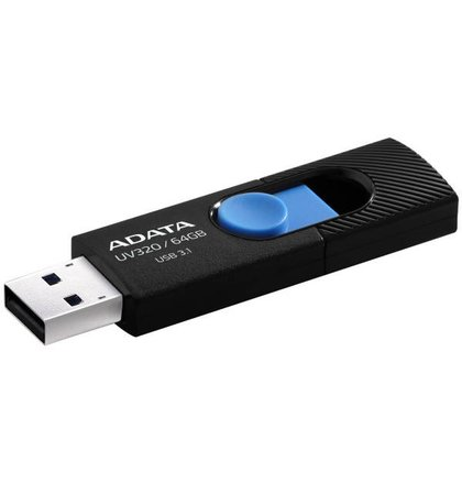 59573d090 64 GB . USB kľúč . ADATA DashDrive™ Value UV320 USB 3.1, Black/