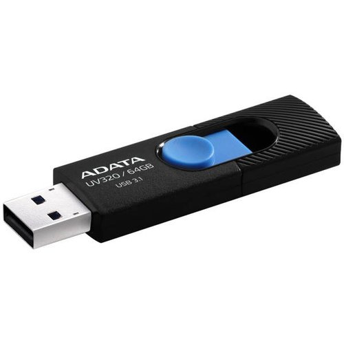 USB kľúč ADATA DashDrive™ Value UV320 64 GB USB 3.1 Modro-čierny