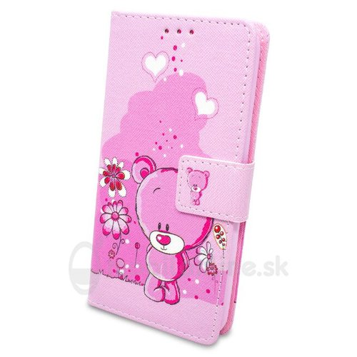 Puzdro Fancy Teddy Bear Book Samsung Galaxy J5 J510 2016 - ružové