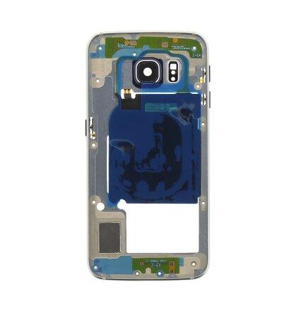 Samsung G925 Galaxy S6 Edge Střední Díl Blue OEM