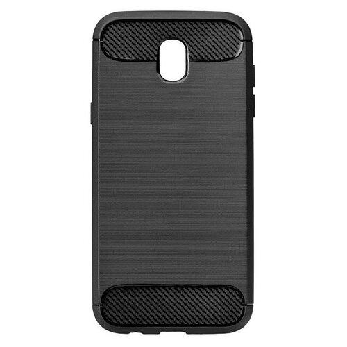 Puzdro Carbon Lux TPU Samsung Galaxy J7 J710 2016 - čierne