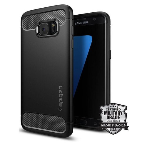 Puzdro Samsung Galaxy S7 Edge G935 Spigen Rugged Armor TPU, čierne