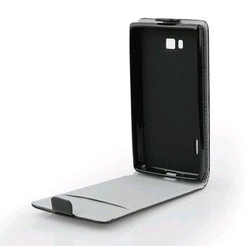 HTC ONE (M8) knižkové ForCell Slim Flip Flexi puzdro, čierne