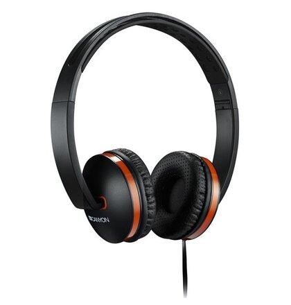 Canyon CNS-CHP4B slúchadlá na uši s integrovaným mikrofónom, skladacie, čierne