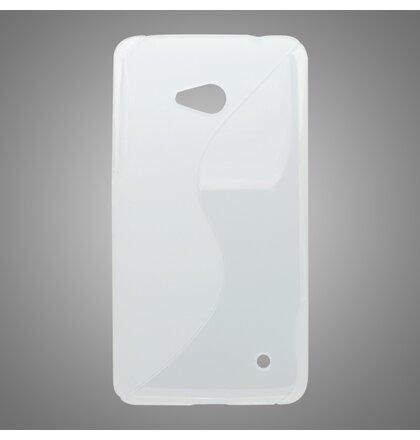 Gumené puzdro S-Line Microsoft Lumia 640 LTE, transparentné