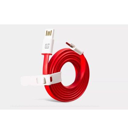 One Plus Flat Wire Original Type C Datový Kabel Red (Bulk)