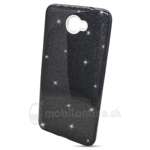 Puzdro Shimmer 3in1 TPU Huawei Y7 - čierne