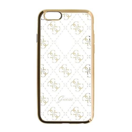 Puzdro Guess pre iPhone 5/5S/SE GUHCPSETR4GG silikónové, zlaté