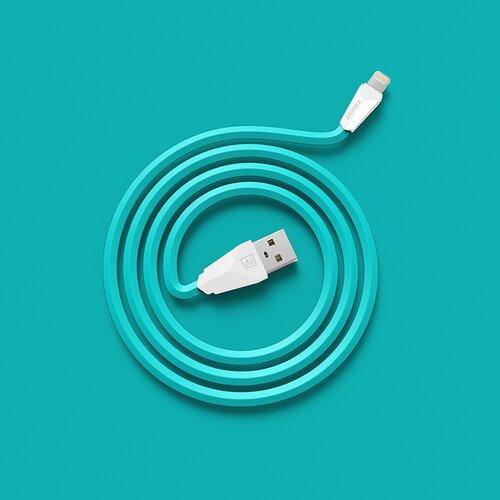 Remax Alien Datový Kabel Blue pro iPhone 5/5S/6/6 Plus