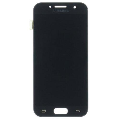 Samsung A320 Galaxy A3 2017 - LCD Displej + Dotyková Plocha - Čierny (Service Pack)