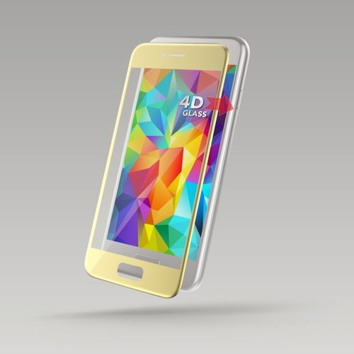 Tvrdené sklo Sturdo 4D 9H Samsung Galaxy A3 A320 2017 celotvárové - zlaté
