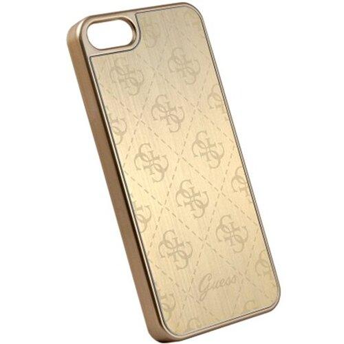 Puzdro Guess pre iPhone 5/5S/SE GUHCPSEMEGO silikónové, zlaté