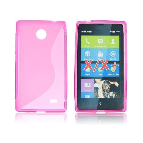 Gumené puzdro Nokia Lumia X/X+, ružové