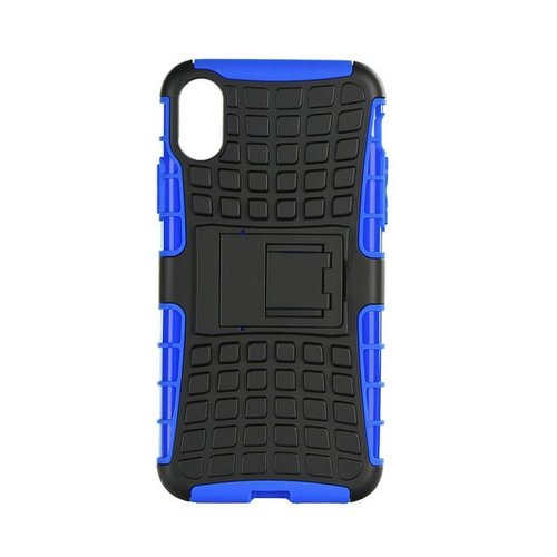 Puzdro Panzer Hard iPhone X - čierno-modré