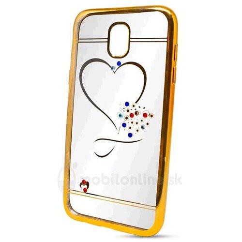 Puzdro Diamond TPU Samsung Galaxy J3 J330 2017 srdce - zlaté