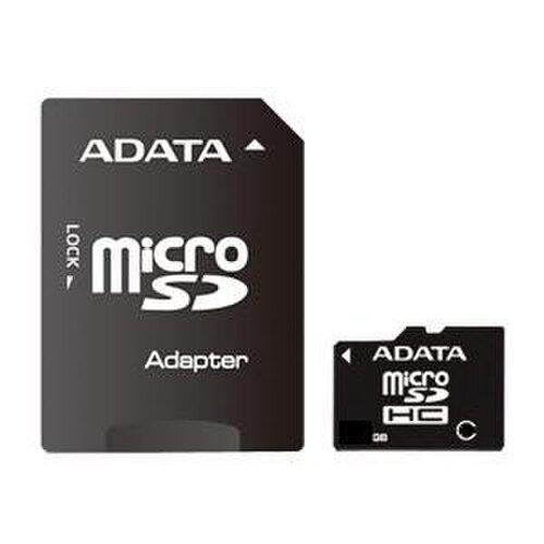 MicroSDHC karta A-DATA 8GB Class 4 + adaptér