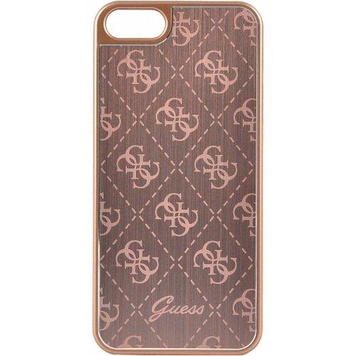 Puzdro Guess pre iPhone 5/5S/SE GUHCPSEMEPI silikónové, zlaté