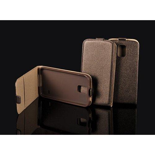 Samsung Galaxy S4 i9500/i9505 knižkové puzdro POCKET slim Flexi hnedé