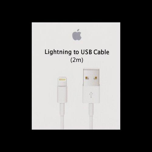 Dátový kábel iPhone 5 MD819 Lightning 2m Biely (EU Blister)