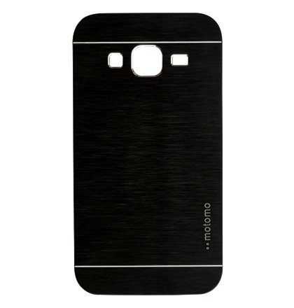 Puzdro Samsung Galaxy Core Prime G360 Motomo brúsený hliník, čierne