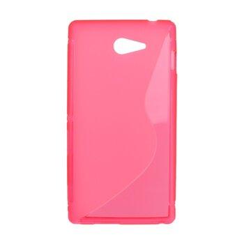 Gumené puzdro S-line TPU Sony Xperia M2, ružové