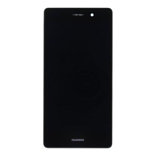 Huawei P8 Lite - LCD Displej + Dotyková Plocha + Sklíčko s Rámom - Čierny