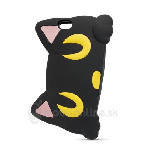 Puzdro 3D TPU iPhone 6/6s Kocúr oči - čierne