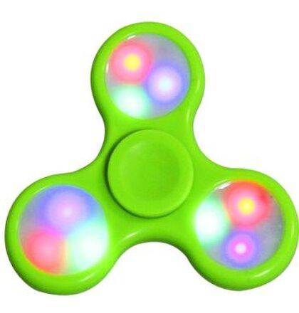 Fidget Spinner, LED - zelený